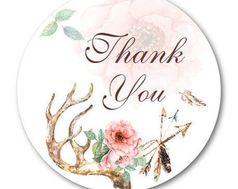 Thank You Stickers, Custom Stickers, Custom Wedding Stickers, Custom Labels - Made to Order