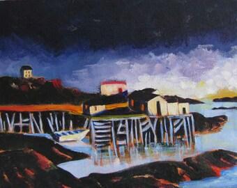 Newfoundland original seascape landscape wall art painting