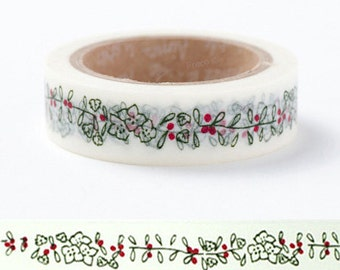 Olive Wreath Adhesive Masking Tape (0.6in)