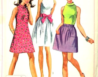 Cute Skirt and Blouse or Minidress Bust 36 Simplicity 7691