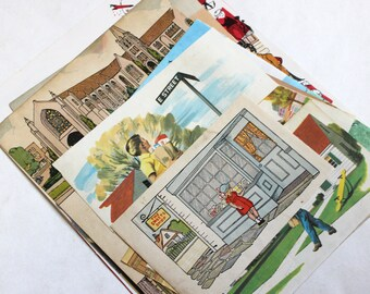 Our Town Vintage Ephemera Collage Kit - Mixed Media, Collage, Altered Art, Assemblage, Scrapbooking, Junk Journal Supplies