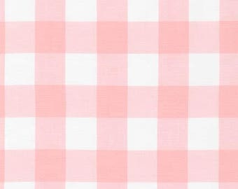 "Petal 1"" Plaid Cotton, Carolina Gingham, Pink Scarf Fabric, Quilting fabric, Apparel Fabric, Plaid cotton Scarf, Robert Kaufman"