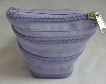 Purple zipper wallet