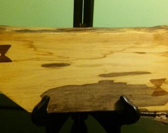 Live edge ambrosia maple with walnut inlay *SALE!*