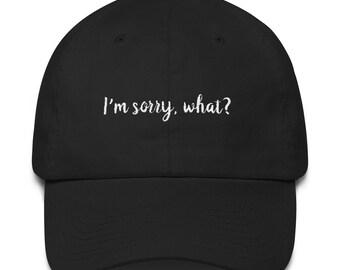 I'm Sorry Cotton Cap