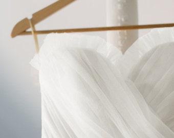 White Tulle Wedding Dress - Vintage Style Ball Gown - Kristine Style