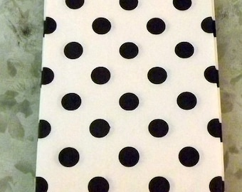 Paper Bags Black Polka Dot Little Bitty Bags Set of 10 goody bags party bags grab bag candy bag