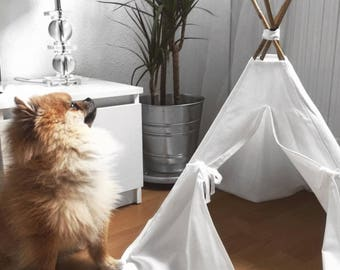 Wigwam 50x50cm for dog or cat (white Plain)