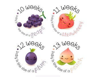 Pregnancy Stickers - Belly Stickers - Baby Bump Weekly Stickers - Pregnancy Reveal - Pregnancy Announcement