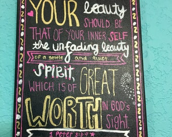 1 Peter 3:3-4 Canvas