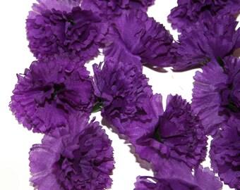 25 Purple Carnations - Artificial Flowers -  PRE-ORDER