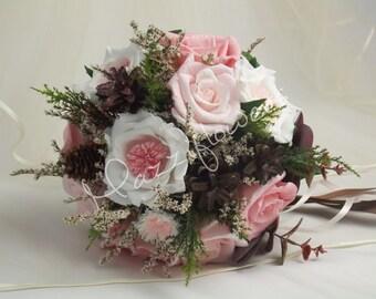 Bridal bouquet,bouquet paper flower,bridesmaids,wedding bouquet,paper flower bouquet, roses,gardenias,bridal flower bouquet
