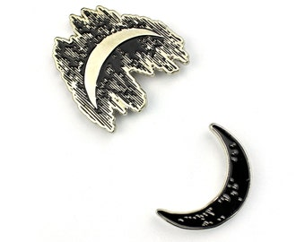 "Sun and Moon Duality Set - 1"" Soft Enamel Pin"