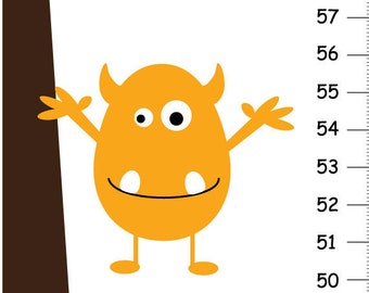 Personalized Monster Canvas Growth Chart