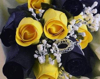 Bumblebee Half Dozen Wax Dipped Roses