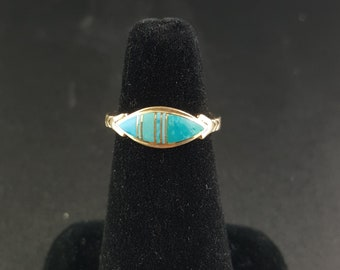 14K Turquoise Inlay Ring