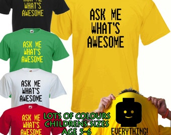 Lego Movie Everything Is Awesome - Childrens Flip T Shirt