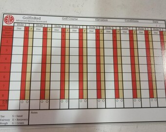 GolfInRed Strokes Gained Golf Stats Scorecard