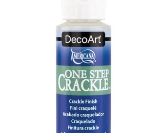 One Step Crackle by DecoArt, crackle finish for paint, 2 ounce bottle