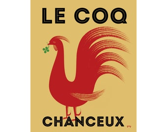 French Country, Rooster Print, Chicken Decor, Kitchen Wall Art
