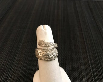 Retro Sterling Silver Spoon  Ring - 6