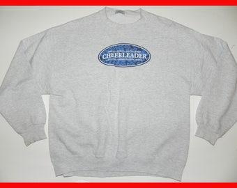 VINTAGE 80s 90s Jumper CHEERLEADER ASSOCIATION Varsity College Uniform Retro Sports Wear