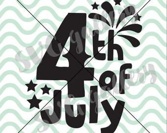 4 th of july SVG, independence day SVG, Digital cut file, happy fourth of july svg, fireworks svg, summer, commercial use OK