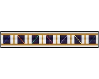 Color Ladder bracelet for loom or square stitch