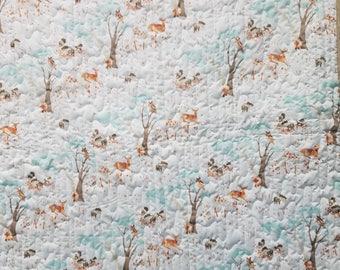 Woodland Animal Baby quilt