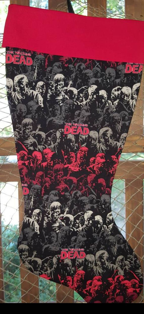 The Walking Dead Christmas Stocking