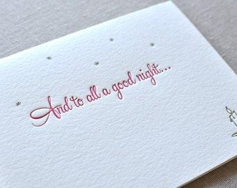 Holiday Variety Letterpress Cards & Envelopes, Set of 6