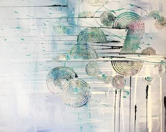 Blue/gray abstract fine art