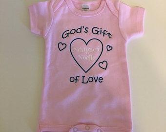 bodysuit - God's Gift personalized onesie