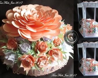 3d Rose Bouquet,TF0037,  SVG,MTC,SCAL,Cricut,Silhouette Cameo,ScanNCut