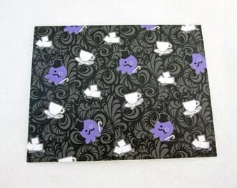 Blank Dapper Gentleman Octopus  Note Card