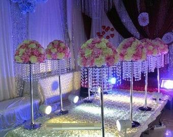 wedding Center piece /ChandelierTabletop chandelier/wedding centerpiece for table /tall vase/effeil tower centerpiece/chandelier centerpiece