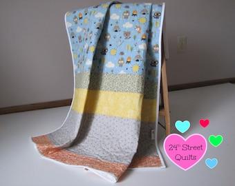 Baby Quilt, Baby Blanket, Crib Quilt | Forest Animals