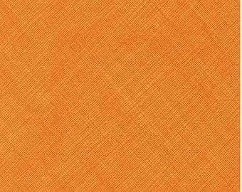 Bias Sketch Fabric C2959-Papaya; Fat Quarter, Third Yard, Half Yard, or By The Yard; Timeless Treasures; Orange