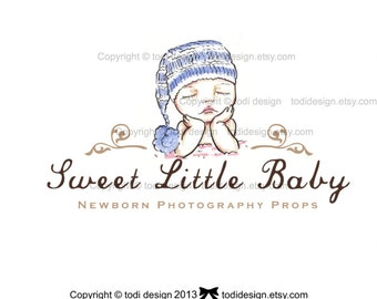 Sweet Little Baby- OOAK Character Illustrated Premade Logo design-Will not be resold