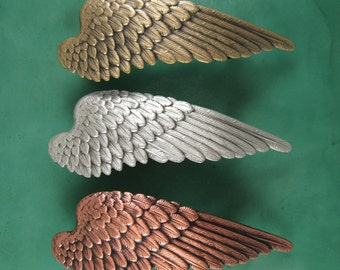 Wing French Barrette 70MM-Angel Wing- Hair Accessory- Barrettes and Clips- French Clips