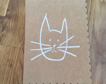 Blank Bunny or Cat Note Cards
