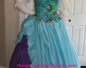 DDNJ Choose Fabric Fully Reversible Muffin Top Corset Skirts Chemise 4pc Renaissance Pirate Costume Fairy Plus Custom Made Any Size Medieval