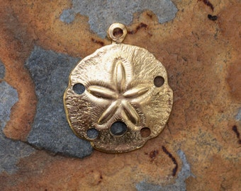 2 Brass Sand Dollar Stampings 20.8 x 17.5mm -  Nunn Design LOW SHIPPING