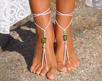 Bohemian Wedding Sandals Beaded Sandals Bridesmaid Sandals Bridal Foot Jewelry Beach Wedding Shoes Barefoot Sandals Bridesmaid Shoes Gift
