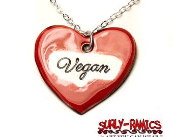 Vegan Ceramic Necklace with Chain