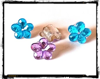 Tube Trinkets: Crystal Flowers (select quantity 2 for a pair)!