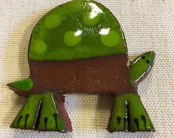 Turtle Handmade Mosaic Ceramic Tile