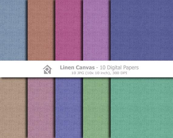 Clip art, Clipart , Canvas Linen Digital Papers- Instant download digital clip art - 10 JPG files