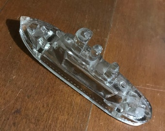 Glass Battleship Figurine