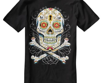 Floral Sugar Skull T-Shirt I007 Day Of The Dead